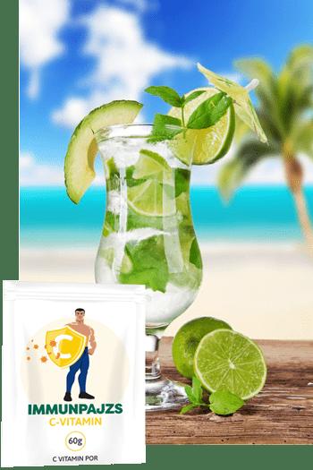 Immunpajzs C vitamin: könnyű használat, kellemes citromos íz