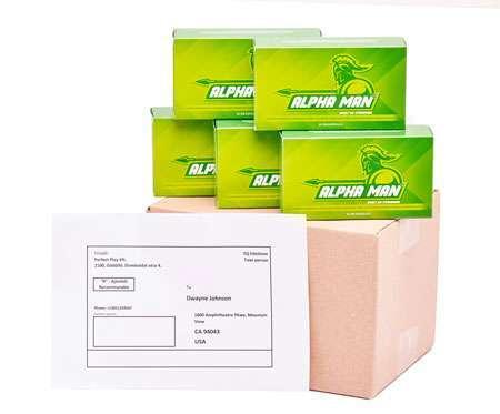 5 doboz Alpha Man ingyenes szállítással külföldre