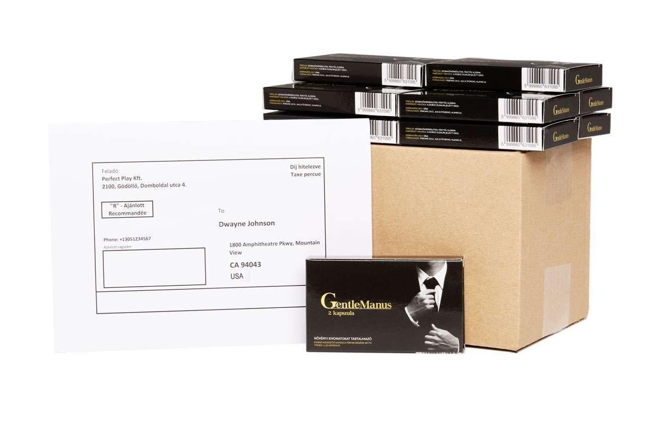 GentleManus: külföldi ingyen szállítással is elérhető!