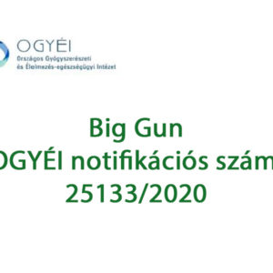 A Big Gun OÉTI engedéllyel rendelkező, legális és megbízható készítmény. OÉTI engedélyszáma: 25133/2020