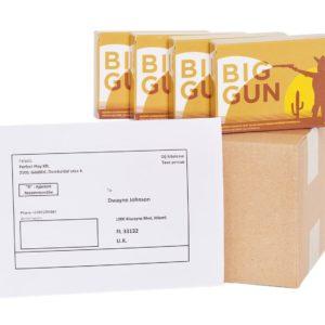 Ha 4 doboz Big Gun sperma fokozót rendelsz egyszerre, akkor ingyenesen kiszállítjuk bárhová a világon!